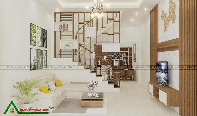 Nội thất phòng khách với thiết kế nhỏ gọn