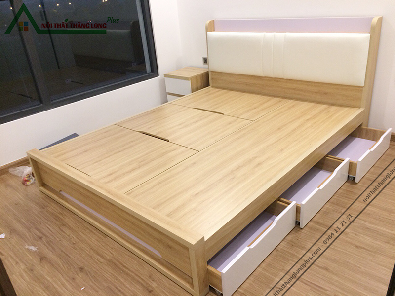 Giường ngủ đa năng có ngăn kéo hiện đại 1m6 x 2m-7