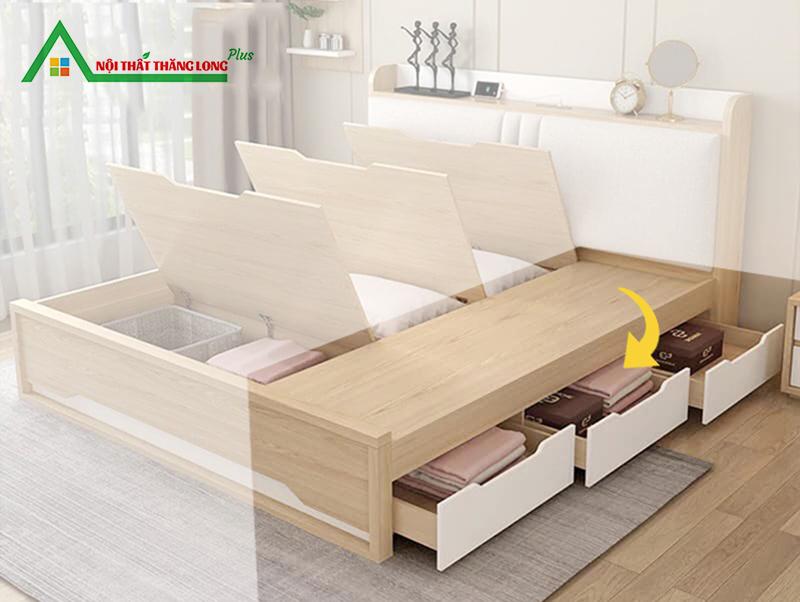 Giường ngủ đa năng có ngăn kéo hiện đại 1m6 x 2m-4
