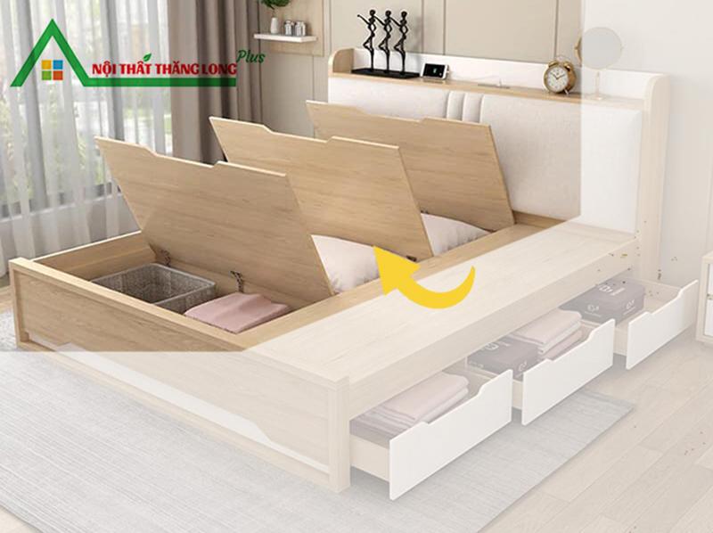 Giường ngủ đa năng có ngăn kéo hiện đại 1m6 x 2m-3