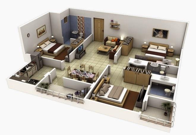 Hướng dẫn thiết kế nội thất chung cư 3 phòng ngủ
