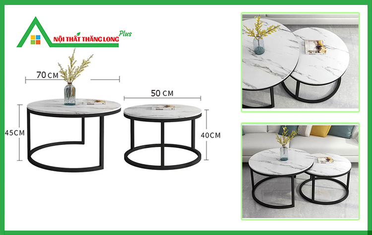 kích thước bàn trà sofa đôi
