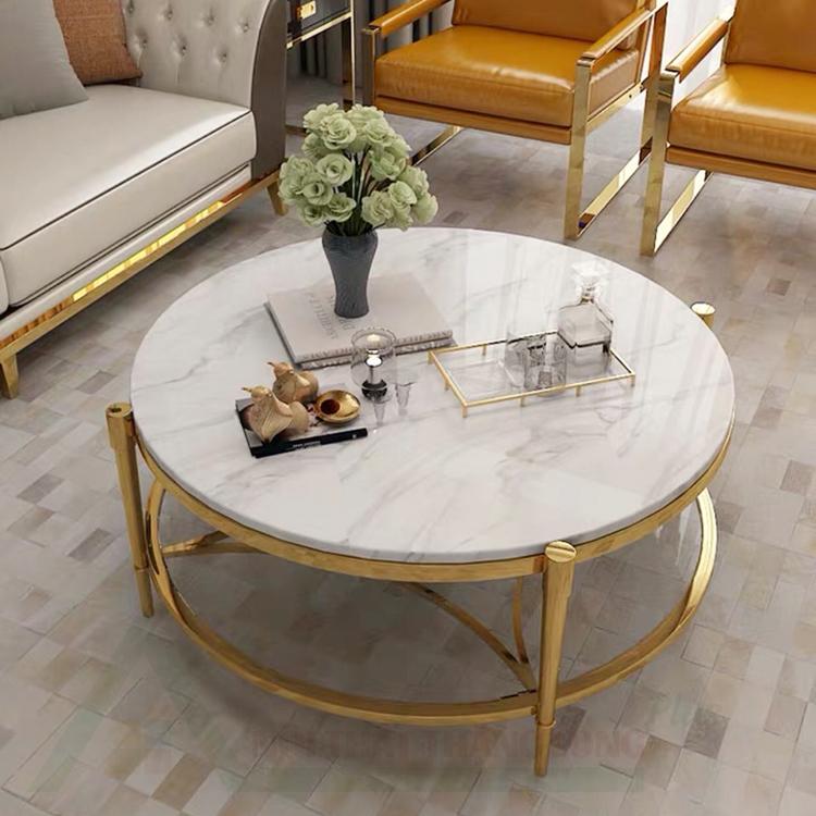 bàn trà sofa mặt đá phòng khách đẹp