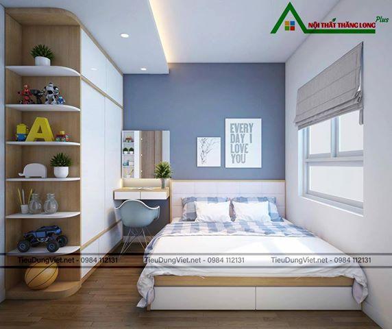 Nội thất phòng ngủ với gam màu sáng