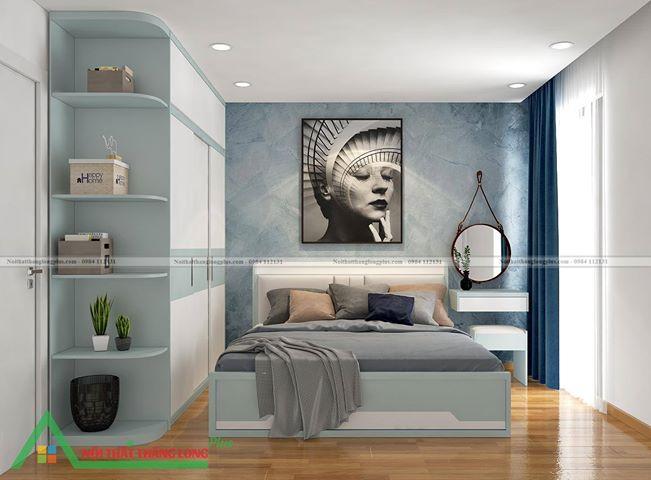Nội thất phòng ngủ nhỏ gọn đầy đủ tiện nghi