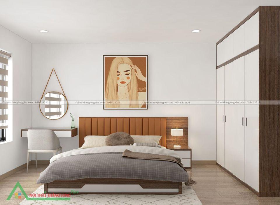Thiết kế Nội thất phòng ngủ đơn giản nhưng ấn tượng