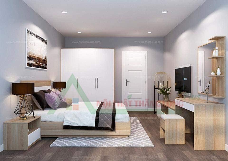 Thiết kế Nội thất phòng ngủ với nội thất gỗ cao cấp