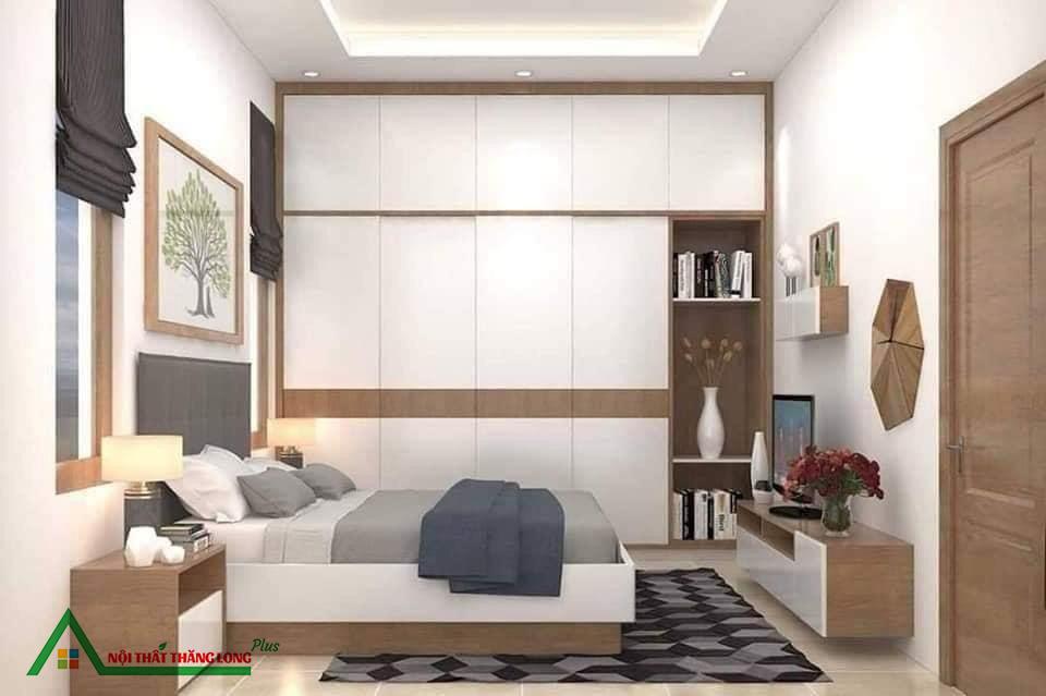 Nội thất phòng ngủ đơn giản nhưng đầy tiện nghi