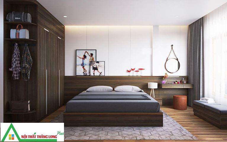 Thiết kế Nội thất phòng ngủ  mang sự lịch lãm
