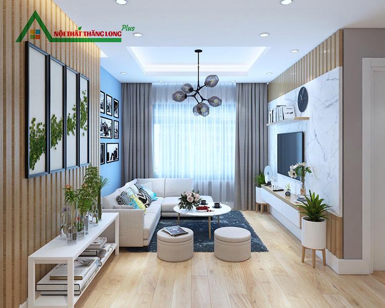 thiết kế thi công nội thất chung cư trọn gói phòng khách