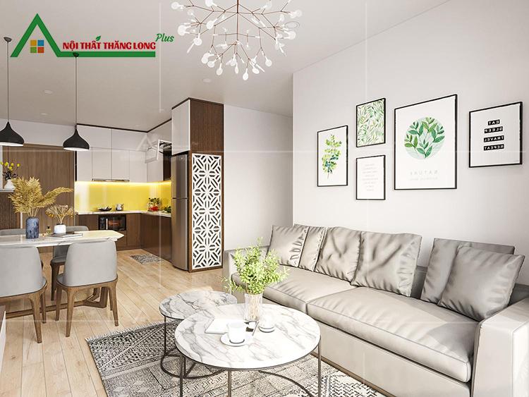 Thiết kế nội thất chung cư căn hộ 2 phòng ngủ Vinhomes Ocean Gia Lâm