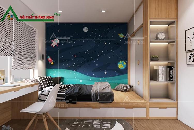 Nội thất phòng ngủ masterchung cư Vinhomes Ocean Park Gia Lâm