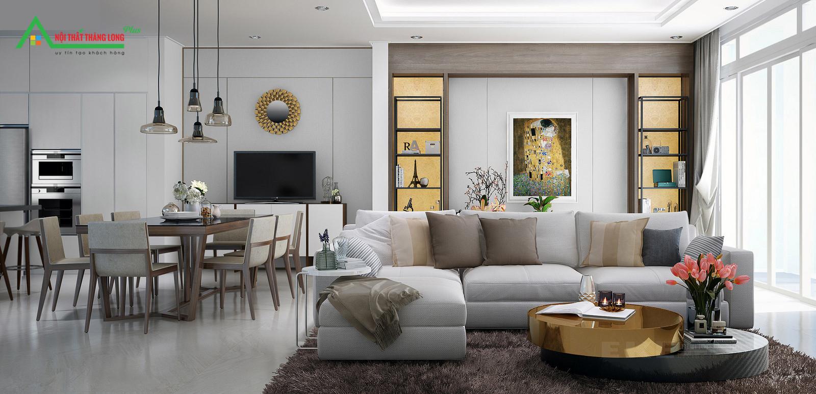 Phòng khách của căn hộ Studio