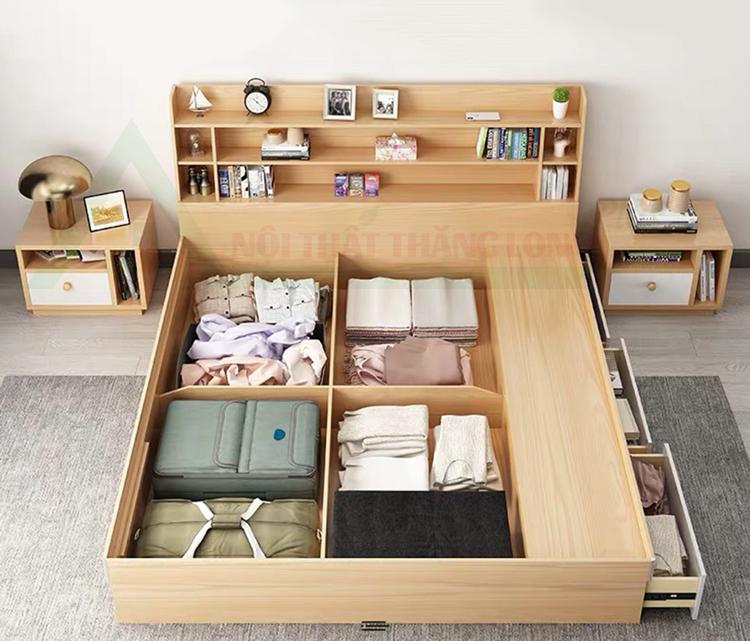 Giường ngủ thông minh kết hợp ngăn chưa quần áo