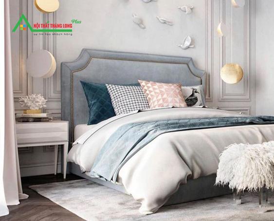 giường ngủ bọc nỉ cao cấp GN04
