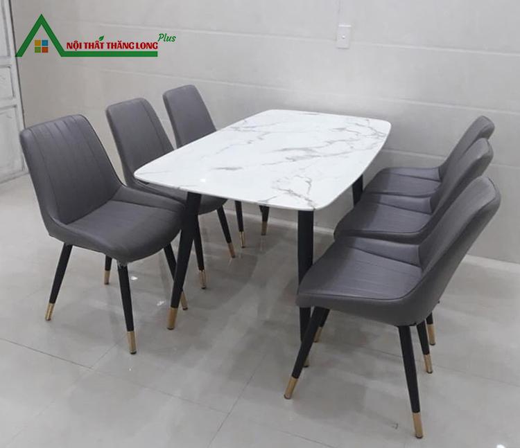 bộ bàn ăn 6 ghế nhập khẩu đẹp