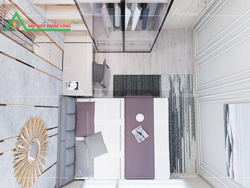 Góc không gian bao quát phòng ngủ