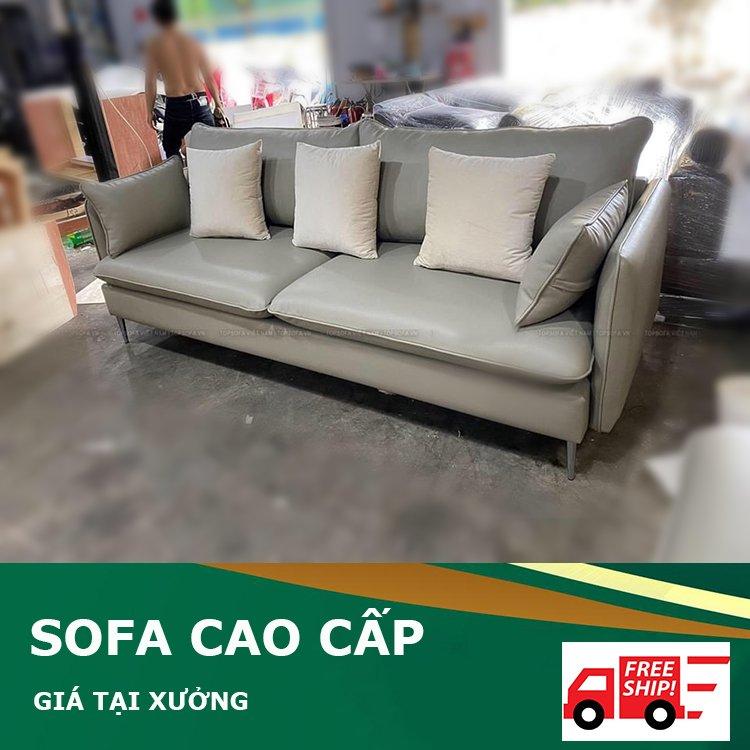 Ghế sofa cao cấp bọc da phòng khách