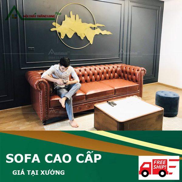 Ghế sofa phòng khách cao cấp hiện đại