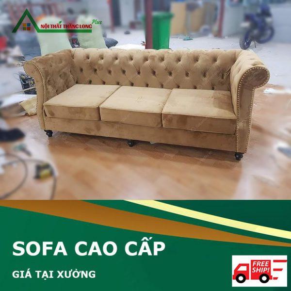Ghế sofa phòng khách phong cách tân cổ điển