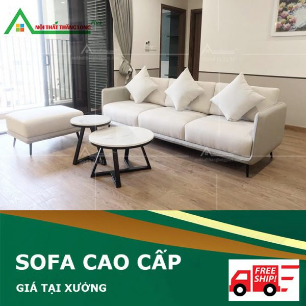 Ghế sofa cao cấp phòng khách màu trắng