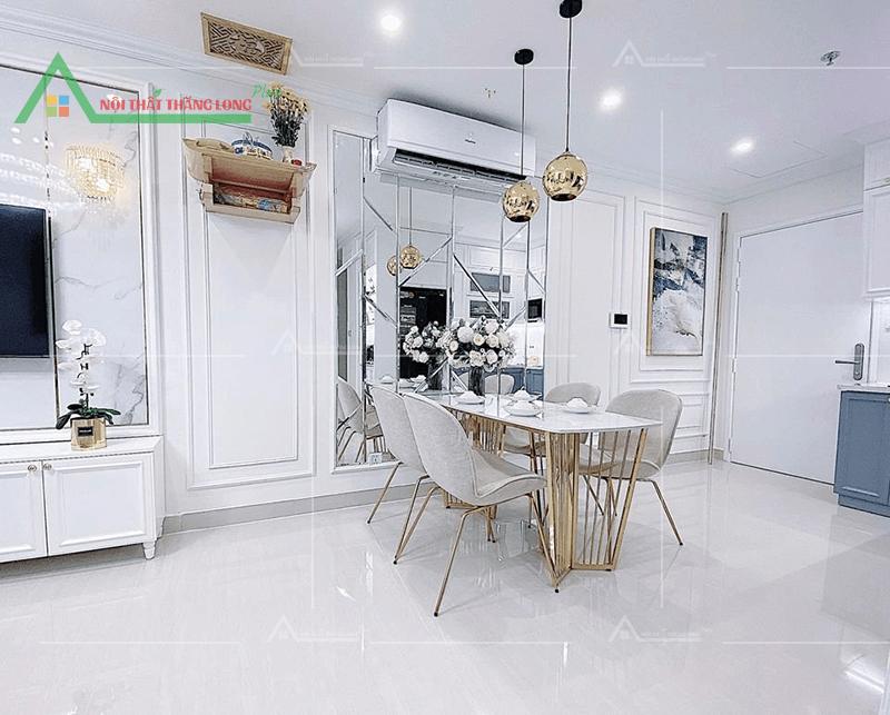 Thi công nội thất căn hộ chung cư không gian phòng ăn