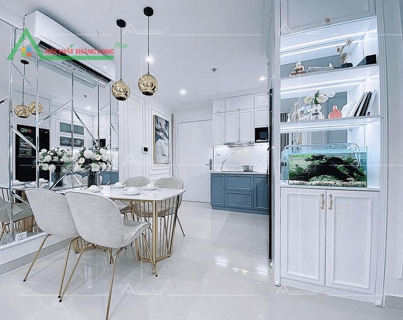 Nội thất căn hộ chung cư không gian phòng ăn nhỏ gọn