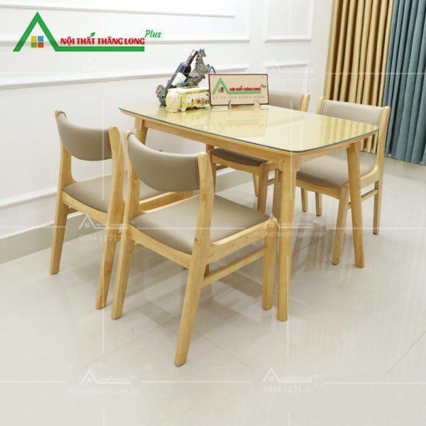 bàn ăn 4 ghế gỗ sồi cao cấp hiện đại