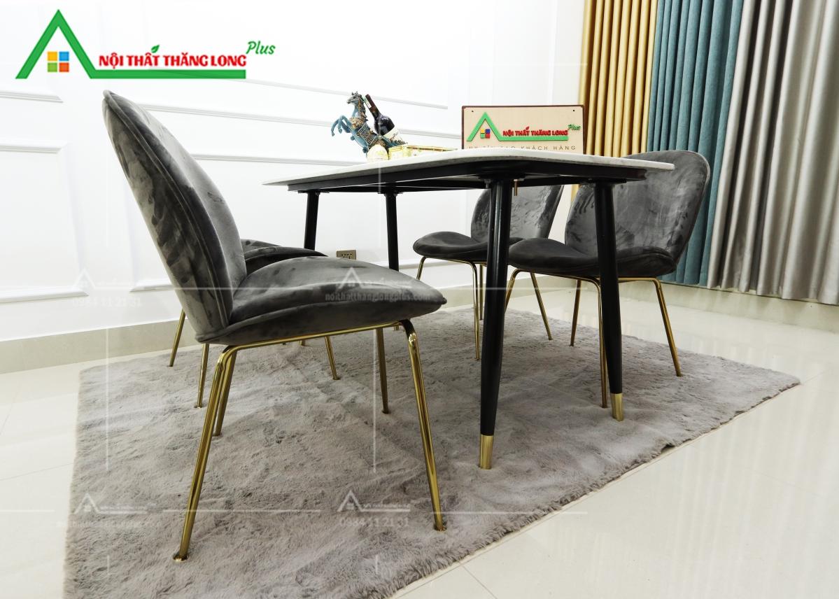 bàn ăn cẩm thạch 4 ghế