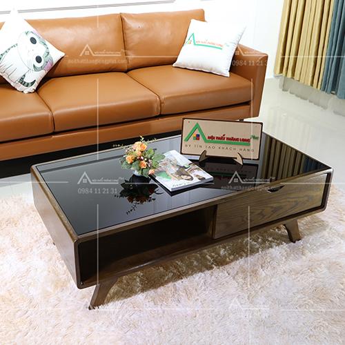 bàn sofa màu óc chó