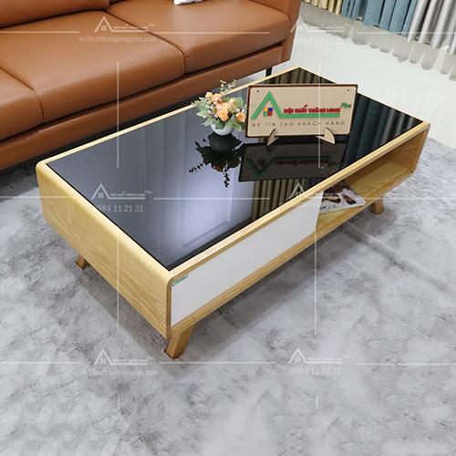 bàn trà sofa gỗ sồi